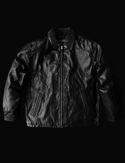 画像1: ボマー ジャケット(ブラック)M/Leather Bomber Jacket(Black)