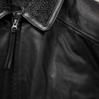 画像2: ボマー ジャケット(ブラック)M/Leather Bomber Jacket(Black)