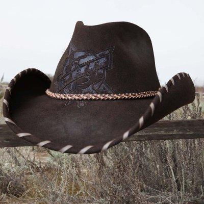 画像2: PBR プロフェッショナル ブルライダース ウール カウボーイ ハット(ブラウン)/PBR Cowboy Hat(Brown)