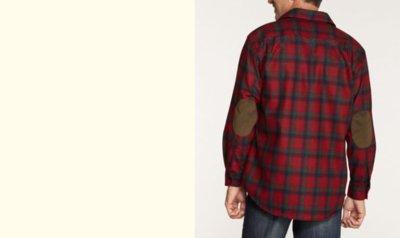 画像2: ペンドルトン ウール シャツ・エルボーパッチ トレイルシャツ レッド ・ブラック オンブレ/Pendleton Trail Shirt (Red Black Ombre)