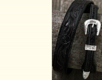 画像2: レザー ハット バンド(ブラック)/Leather Hat Band(Black)