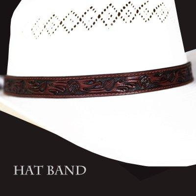 画像1: レザー ハット バンド(ブラウン)/Leather Hat Band(Brown)