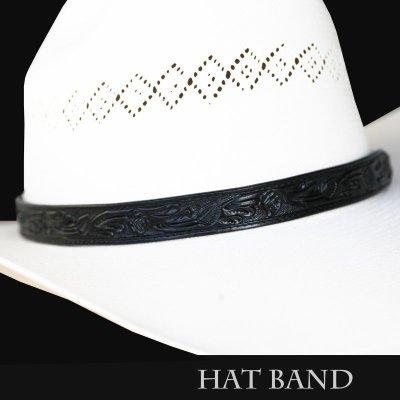 画像1: レザー ハット バンド(ブラック)/Leather Hat Band(Black)