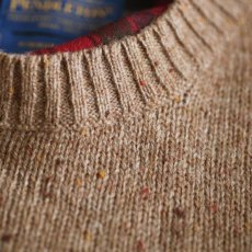 画像2: ペンドルトン シェトランドウール セーター(キャメル)/Pendleton Shetland Wool Sweater (2)