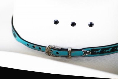 画像3: ホース レザー ハット バンド(ターコイズ)/Leather Hat Band(Horse Turquoise)