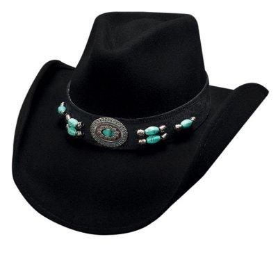 画像1: ブルハイド ウール ウエスタンハット ジュエル オブ ザ ウエスト(ブラック)/Bullhide Western Hat(Jewel of The West/Black)