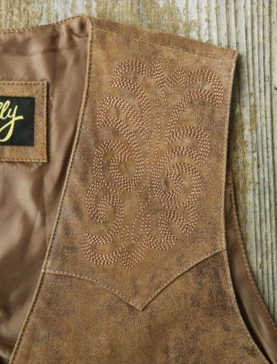 画像3: スカリー ウエスタン レザー ベスト(ブラウン)ラージサイズ42・46/Scully Leather Vest