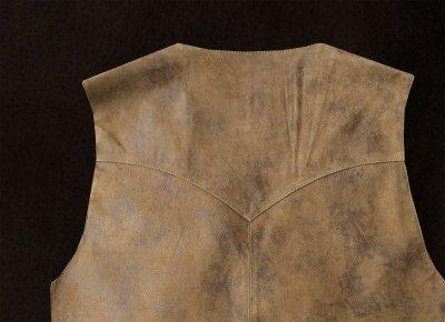 画像2: スカリー ウエスタン レザー ベスト(ブラウン)ラージサイズ42・46/Scully Leather Vest