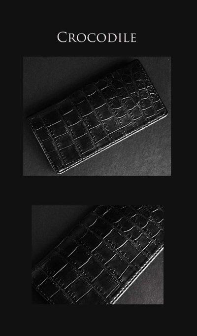 画像1: ファニー クロコダイル ウォレットJr. ブラック/Funny Wallet Jr. Crocodile Black