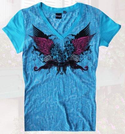 画像1: レディース ウエスタン Tシャツ ターコイズ(半袖)S/Women's Western T-shirt