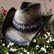 画像1: ブルハイド ウエスタン ストローハット(ラブマイセルフ)M/BULLHIDE Western Straw Hat Love Myself (1)