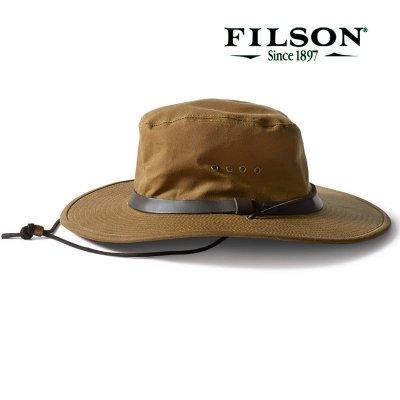 画像1: フィルソン オイルフィニッシュ ブッシュ ハット/Filson Tin Bush Hat(Tan)