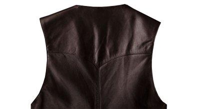 画像2: コンチネンタル レザー ウエスタン レザーベスト(エスプレッソ)/Continental Leather Fashions Western Leather Vest(Espresso)