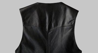 画像2: コンチネンタル レザー ウエスタン レザーベスト(ブラック)/Continental Leather Fashions Western Leather Vest(Black)