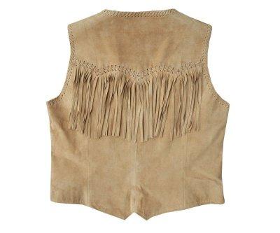画像2: スカリー ウエスタン フリンジ ベスト(ビーズ・タン)XS/Scully Fringe Vest(Women's)