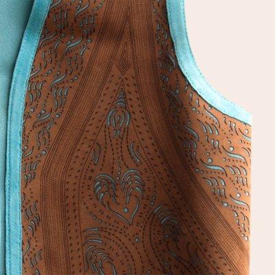 画像3: スカリー ラムレザー フリンジ ベスト(ブラウン・ターコイズ)M/Scully Fringe Vest(Women's)
