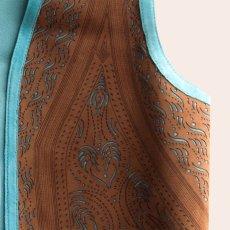 画像2: スカリー ラムレザー フリンジ ベスト(ブラウン・ターコイズ)M/Scully Fringe Vest(Women's) (2)