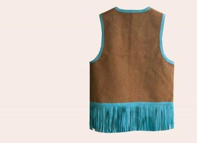 画像2: スカリー ラムレザー フリンジ ベスト(ブラウン・ターコイズ)M/Scully Fringe Vest(Women's)