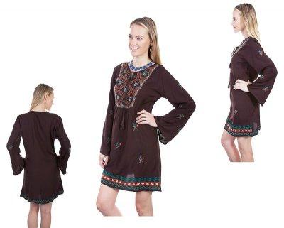 画像2: ボヘミアン トラディショナル刺繍 ワンピースS/Bohemian traditional embroidered dress(Women's)