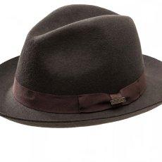 画像2: ペンドルトン クラシック フェドラ ハット(チョコレートブラウン)/Pendleton Classic Fedora Hat Chocolate Brown (2)