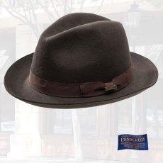 画像1: ペンドルトン クラシック フェドラ ハット(チョコレートブラウン)/Pendleton Classic Fedora Hat Chocolate Brown (1)