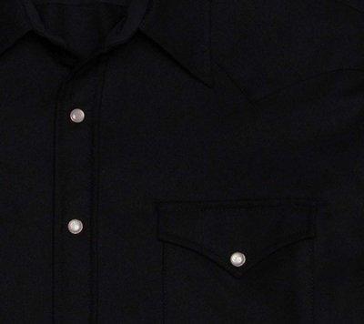 画像2: ペンドルトン ウエスタンシャツ ブラック無地/Pendleton Western Shirt