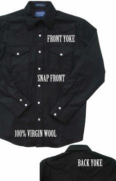 画像2: ペンドルトン ウエスタンシャツ ブラック無地/Pendleton Western Shirt (2)