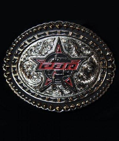 画像1: PBR モンタナシルバースミス ウエスタン ベルト バックル/Montana Silversmiths Belt Buckle