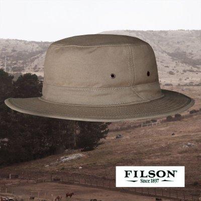 画像1: フィルソン オリジナル ティンクロス ハット イン ドライシェルター(キャメル)/Filson Original Tin Cloth Hat in Dry Shelter(Camel)