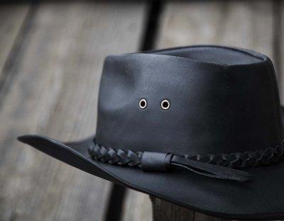 画像2: ブラック バッファロー カウボーイ ハット/Genuine Leather Cowboy Hat(Black)