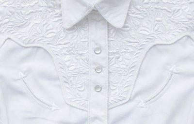 画像3: スカリー 刺繍 ウエスタン シャツ(長袖/ホワイト・ホワイト)/Scully Long Sleeve Western Shirt(Women's)