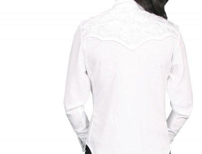 画像2: スカリー 刺繍 ウエスタン シャツ(長袖/ホワイト・ホワイト)/Scully Long Sleeve Western Shirt(Women's)