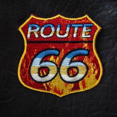 画像1: ワッペン ルート66/Patch Route 66 Fire