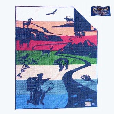 画像2: ペンドルトン ブランケット ルイス&クラーク探検隊 200年特別記念 Joined In Discovery/Pendleton Blanket Lewis&Clark Bicentennial