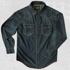 画像2: ビンテージウォッシュ ウエスタン デニム シャツ(インディゴ)/Western Denim Shirt (2)