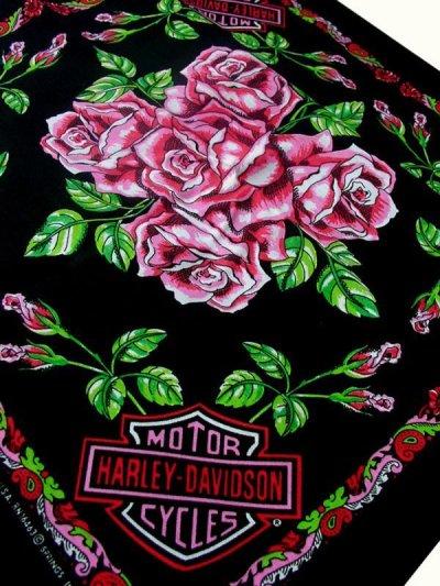 画像2: ハーレーダビッドソン バンダナ(ローズ)/Harley Davidson Bandana