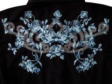 画像2: ローパー 刺繍 ウエスタンシャツ ブラック・ブルーローズ(長袖/レディース)/Roper Long Sleeve Western Shirt(Women's) (2)