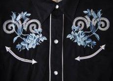 画像3: ローパー 刺繍 ウエスタンシャツ ブラック・ブルーローズ(長袖/レディース)/Roper Long Sleeve Western Shirt(Women's) (3)