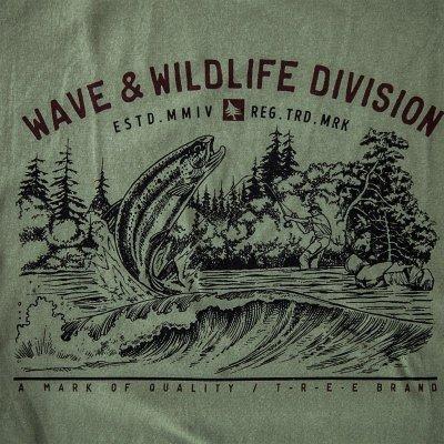 画像1: フィッシング オーガニックコットン 半袖 Tシャツ(ミリタリー)S/Bait T-shirt (Military)