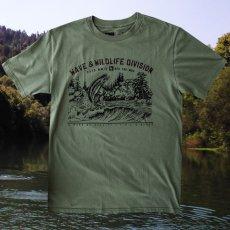 画像1: フィッシング オーガニックコットン 半袖 Tシャツ(ミリタリー)S/Bait T-shirt (Military) (1)