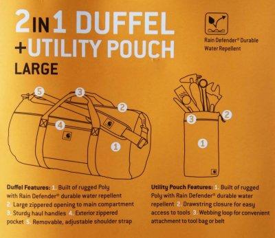 画像3: カーハート ダッフルバッグ ユーティリティポーチつき(カーハートブラウン)/Carhartt Duffle Bag(Carhartt Brown)