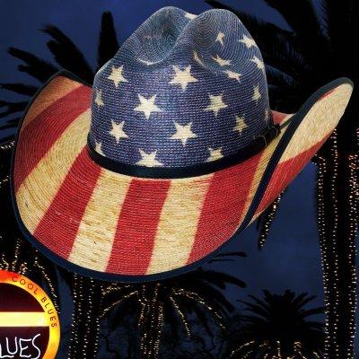 画像2: ブルハイド ウエスタン ストローハット アメリカンフラッグ スタースパングル 20X/Bullhide Star Spangled 20X American Flag Cowboy Hat