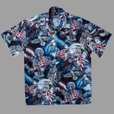 画像1: アメリカンイーグル&アメリカンフラッグ 半袖シャツ/Short Sleeve Shirt (1)