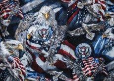 画像2: アメリカンイーグル&アメリカンフラッグ 半袖シャツ/Short Sleeve Shirt (2)