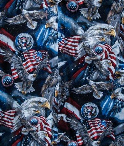 画像1: アメリカンイーグル&アメリカンフラッグ 半袖シャツ/Short Sleeve Shirt