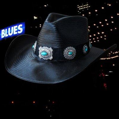 画像1: ブルハイド ウエスタン ストローハット ア ナイト トゥ シャイン(ブラック/シルバー・ターコイズコンチョ)/Bullhide Western Straw Hat A Night To Shine(Black)