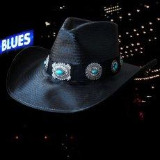 画像2: ブルハイド ウエスタン ストローハット ア ナイト トゥ シャイン(ブラック/シルバー・ターコイズコンチョ)/Bullhide Western Straw Hat A Night To Shine(Black) (2)