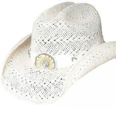 画像1: ブルハイド ウエスタン ストローハット イッチィグーニー(ホワイト)/Bullhide Western Straw Hat Itchygoonie(White) (1)