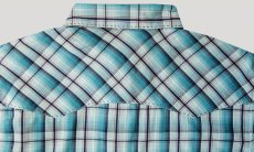 画像3: ラングラー 半袖 ウエスタンシャツ ターコイズブルーM/Wrangler Short Sleeve  Western Shirt (3)