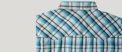 画像3: ラングラー 半袖 ウエスタンシャツ ターコイズブルーM/Wrangler Short Sleeve  Western Shirt